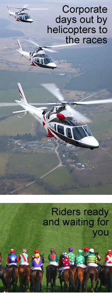 Helicopter hire to the races